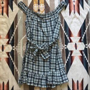 UO Plaid Mini Dress